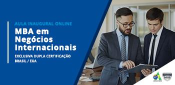 Aula Inaugural – MBA em Negócios Internacionais