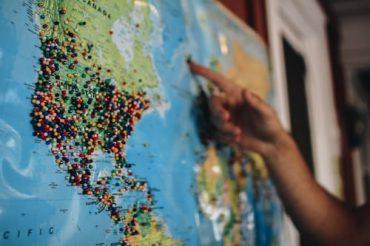 Mapa mundi para texto sobre etapas da exportação